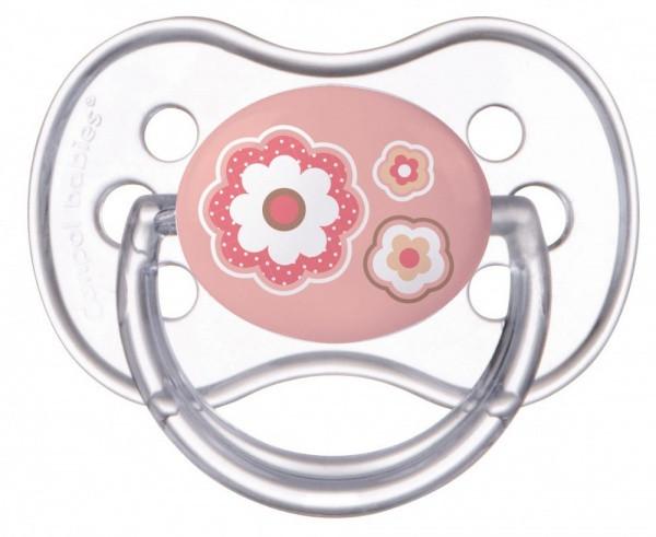 Силиконовая круглая пустышка Canpol Babies Newborn Baby, 6-18 мес., розовый (22/563 Розовый)