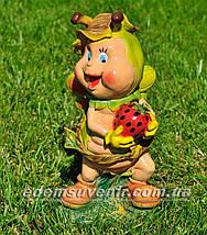 Садовая фигура Лесной жучок, Мотылек с клубникой и Майя средняя, фото 2