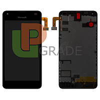 Дисплей для Microsoft 550 Lumia + тачскрин, черный, с передней панелью, оригинал (Китай)