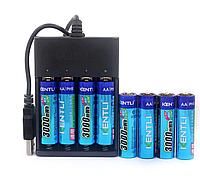 АА пальчиковый KENTLI литий-ионный аккумулятор 3000мАч 1,5В  + зарядное устройство 8 шт
