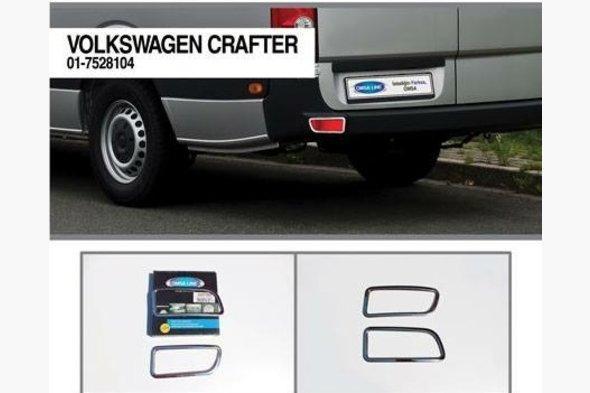 Накладки на рефлекторы (2 шт, нерж.) Volkswagen Crafter 2006-2017 гг.