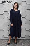 Повседневное женское платье стрейч-вискоза теплая+камни размер 56-60,60-64, фото 4