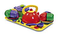 Набор посуды с подносом, 23 предмета, Юника 0309