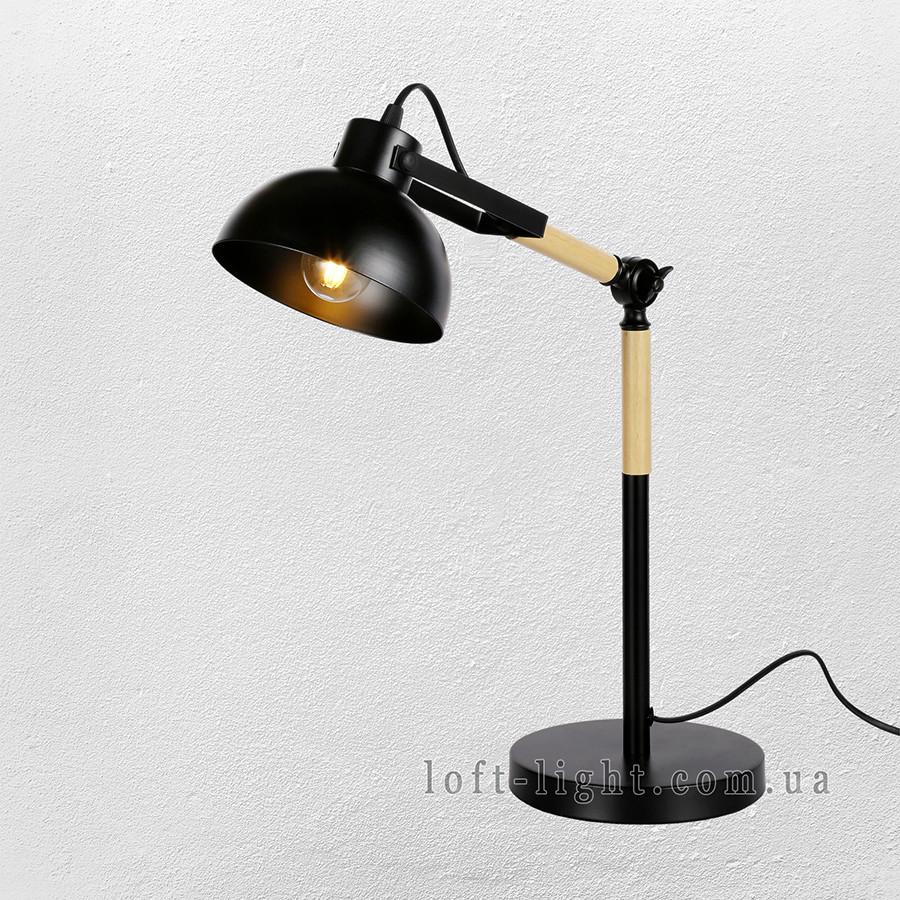 Настольная лампа  лофт  56-PR5524-1 BK