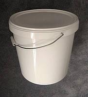 Ведро пластиковое пищевое, белое, 21.0 л