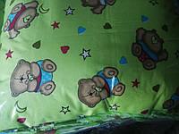 Одеяло и подушка детские - поликаттон салатовое
