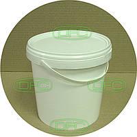Белое пищевое пластиковое ведро, 3.3 л