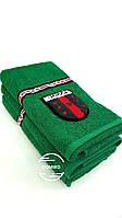 Махровое полотенце 70*140 gucci зеленое