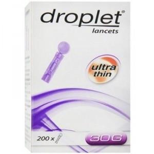 Ланцет медицинский стерильный Дроплет (Droplet) 30G (0.31 мм), 200 шт, Польша