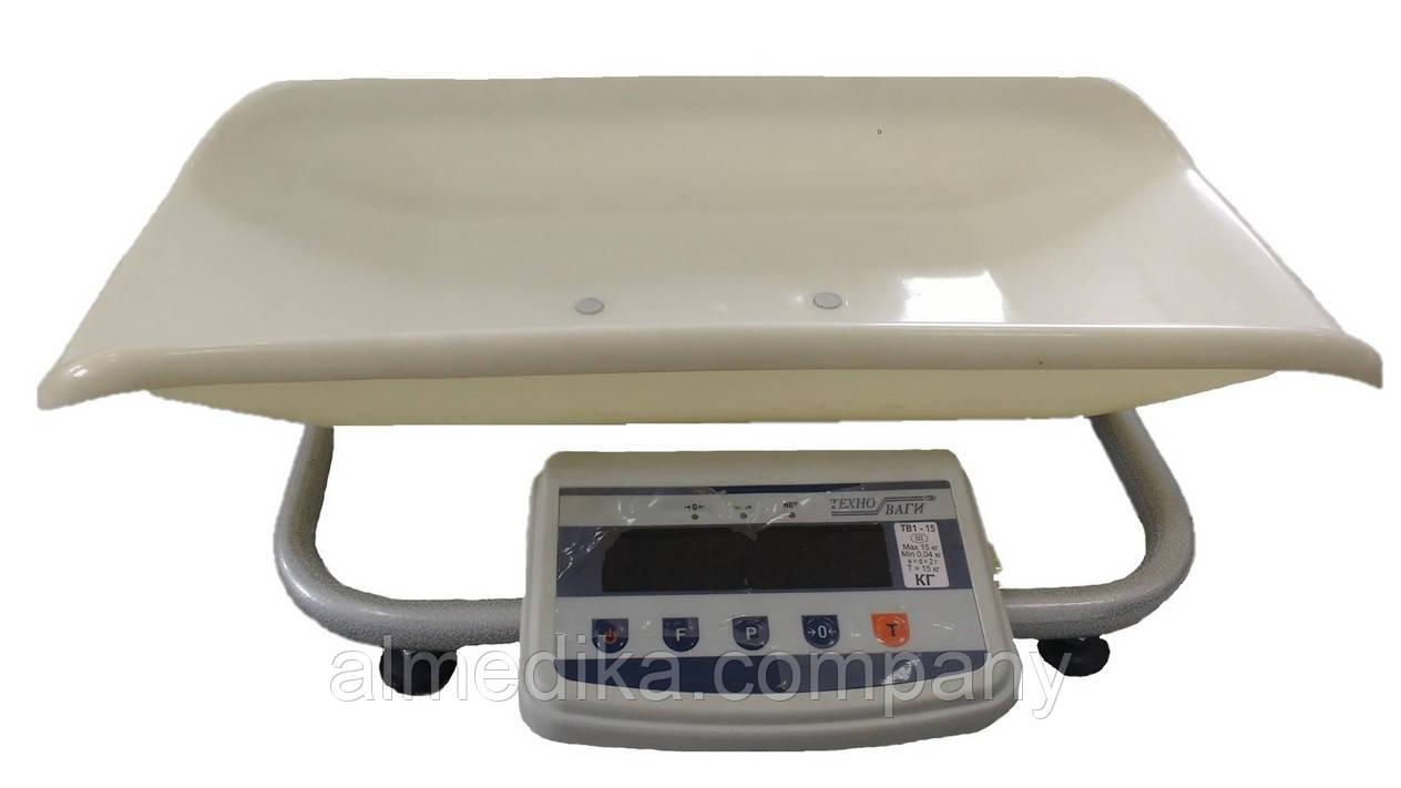 Весы медицинские для новорожденных ТВЕ1-15-5-(300х550)-12ра-М