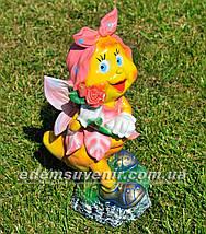 Садовая фигура Мотылек с розой, Мотылек с арфой и Мотылек с лилией, фото 2