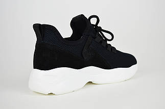 Черные женские кроссовки текстиль-замша Lonza 88168, фото 2
