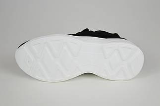 Черные женские кроссовки текстиль-замша Lonza 88168, фото 3