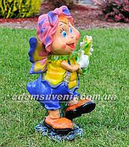 Садовая фигура Мотылек с розой, Мотылек с арфой и Мотылек с лилией, фото 3