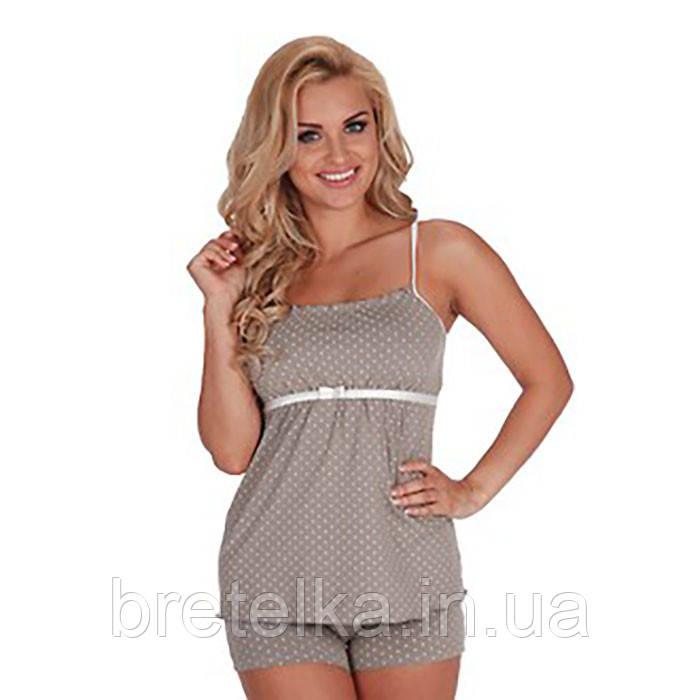 Пижама женская Delafense 915 кофейный