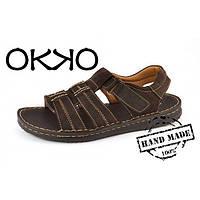 Сандалии мужские кожаные коричневые OKKO a34c958bfa870