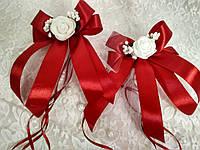 Украшение свадебных машин Rose. Цвет марсала (цена за 1 шт)
