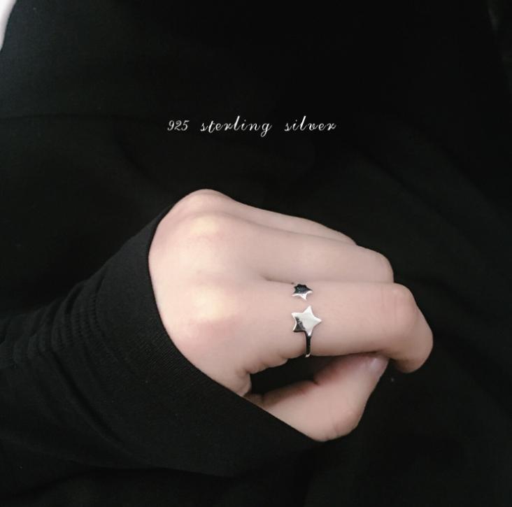 Женское Серебряное Кольцо Универсальное Звездное небо
