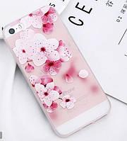 Силиконовый чехол с 3D цветы для Iphone 6/6s