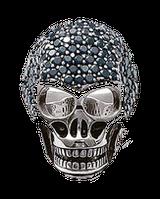 Кольцо мужское Череп с камнями
