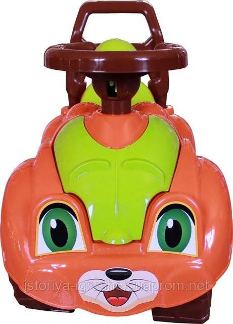 Машинка каталка Автомобиль для прогулок (3268) зеленая