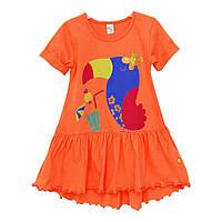 Платье для девочки 2-5 лет оранжевый летний Minikin 173302