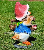Садовая фигура Утенок с грибами, Цыпа с коромыслом и Цыпа чистюля, фото 2