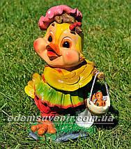 Садовая фигура Утенок с грибами, Цыпа с коромыслом и Цыпа чистюля, фото 3