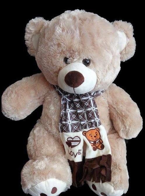 67b7d980e26d3 Мягкий плюшевый Медведь 58 см милая игрушка мишка в шарфе подарок на день  влюбленных 8 марта