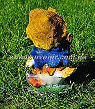 Садовая фигура Утенок дровосек, Утенок путешественник и Цыпа скрипач, фото 2