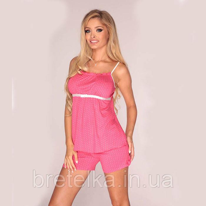 Пижама женская Delafense 915 малиновый