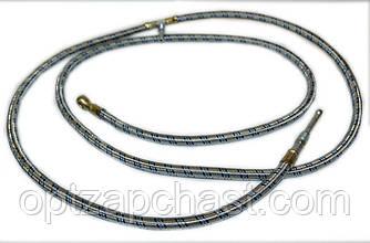 Топливопровод от топливного бака к двигателю МТЗ тройник (металлооплетка) (70-1101345м)