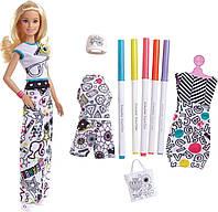 Кукла Барби Крайола Модный дизайнер раскраска одежды Crayola Color-in Fashions Blonde