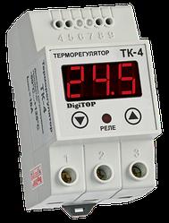 Терморегулятор ТК-4 16А одноканальный цифровой DIN-рейка DigiTOP