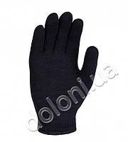 540 Долоні рукавички трикотажні робочі чорні подвійні без пвх Універсал  10+7 клас