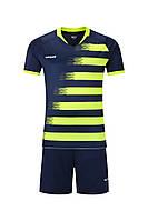 Футбольная форма игровая Europaw 021 (т.сине-салатовая), фото 1