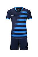 Футбольная форма игровая Europaw 021 (т.сине-синяя), фото 1