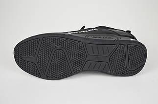 Текстильные кроссовки с кожаными вставками черные Lonza 87610, фото 3