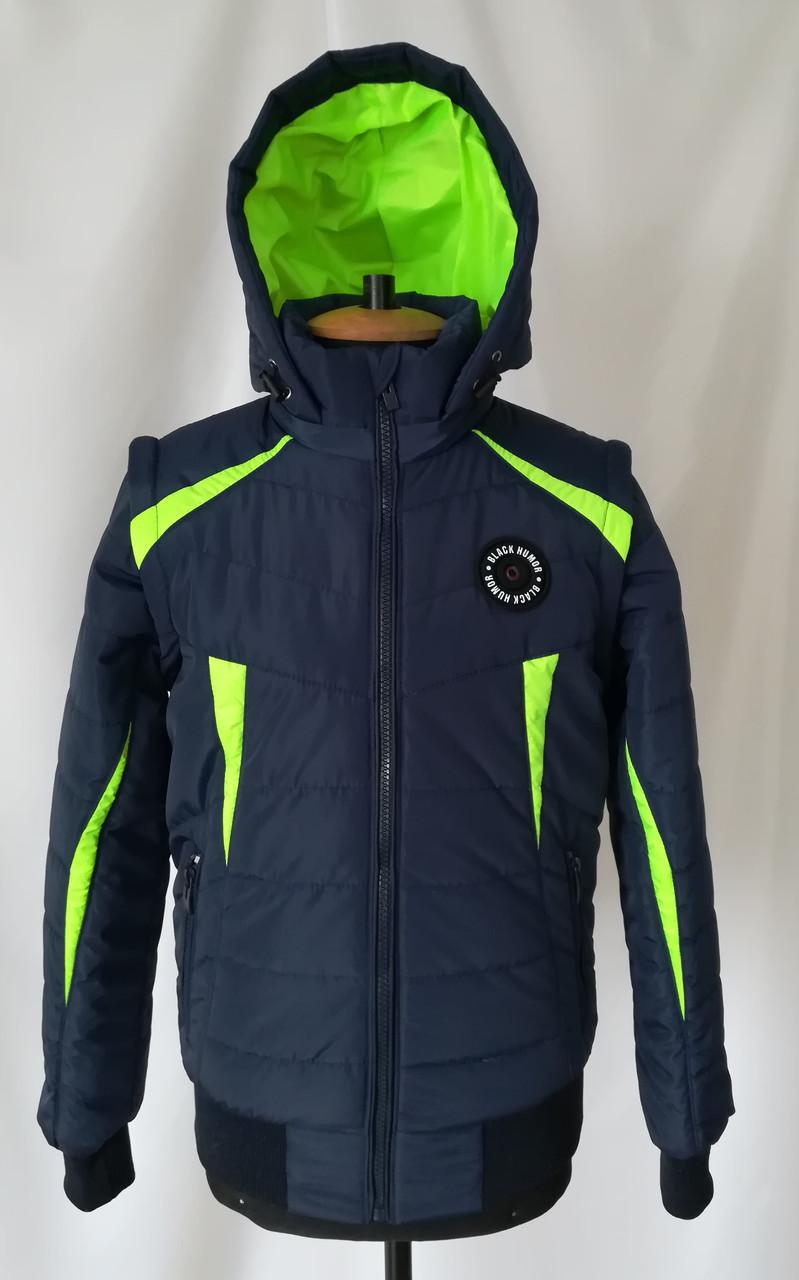 Демисезонная куртка  для мальчика от производителя  38-40 салатовый