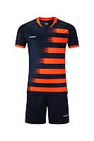 Футбольная форма игровая Europaw 021 (т.сине-оранжевая), фото 1