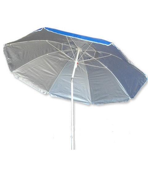 Зонт пляжный с наклоном, диаметр 2 метра, с серебряным напылением, пластиковые спицы