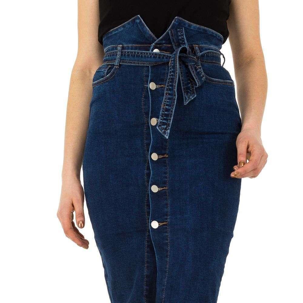 Юбка джинсовая с высокой талией от производителя Laulia (Европа), Синий