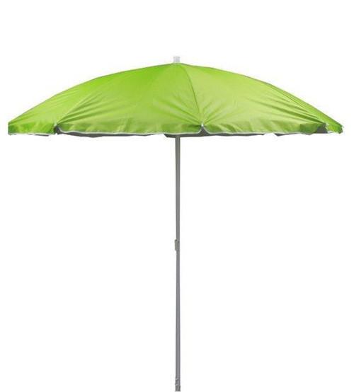 Зонт пляжный, диаметр 1,7 метра, с серебряным напылением, пластиковые спицы