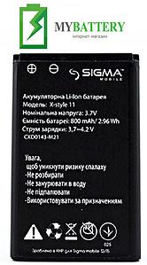 Оригинальный аккумулятор АКБ (Батарея) для Sigma X-Style 11 800 mAh 3.7V