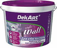 Водоэмульсионная интеръерная влагостойкая  краска Декарт «Wall».