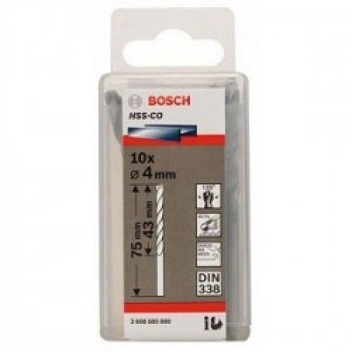 Сверло Bosch HSS-Со 4x75 мм. 10 шт.