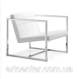 """М'яке крісло """"Нортон"""", нержавіюча сталь, колір білий"""
