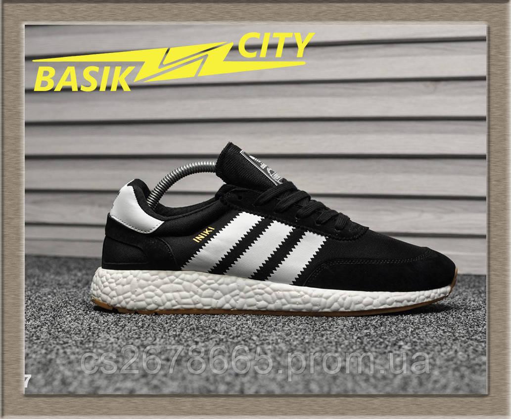 Мужские кроссовки Adidas Iniki Black White