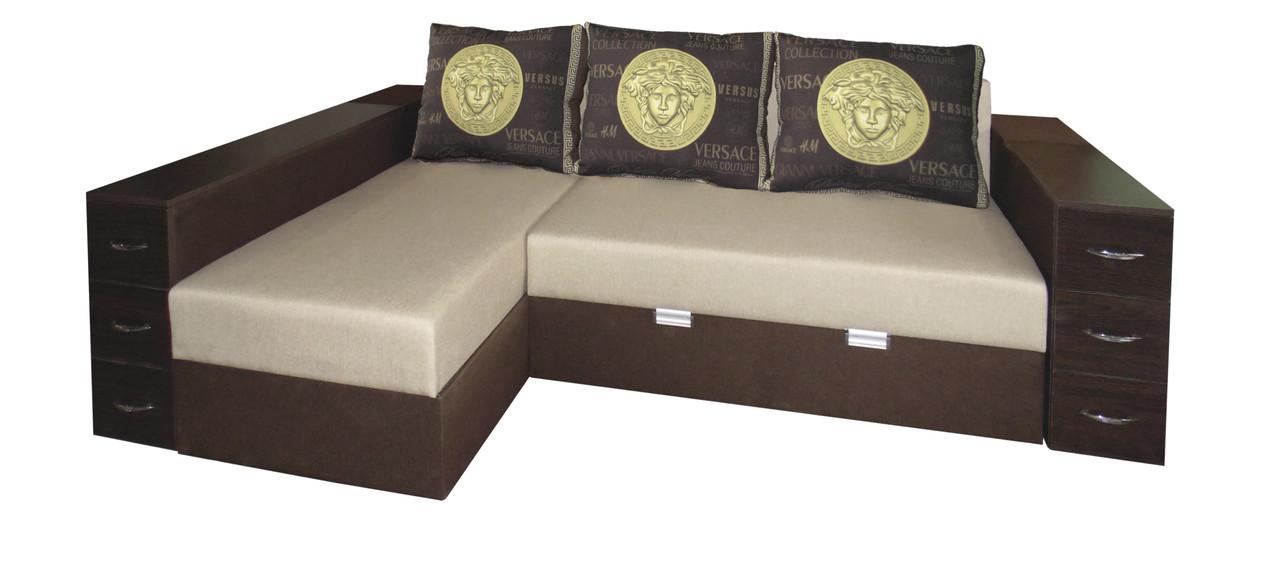 Угловой диван на ламели Магнат