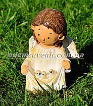 Садовая фигура Ангелок с птенцами и Ангелок с кормушкой, фото 2